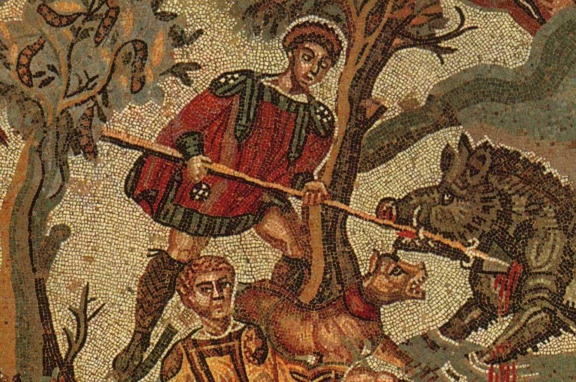 Noa alla Villa romana del Casale