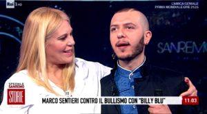 """""""Sei il vincitore morale di Sanremo Giovani"""" Eleonora Daniele su Marco Sentieri a """"Storie Italiane"""""""