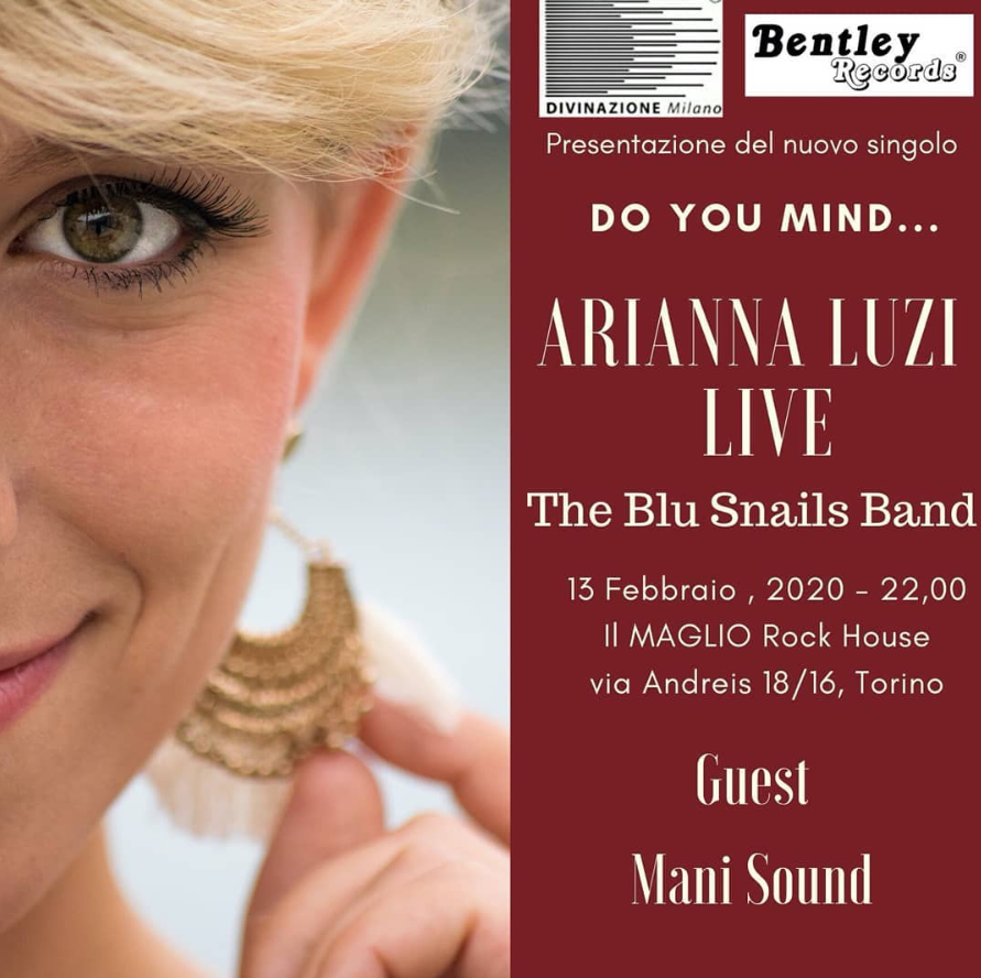 "Arianna Luzi in concerto per presentare il nuovo singolo ""Do you mind coming with me?"""