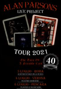 ALAN PARSONS: RIMANDATI A LUGLIO 2021 I CONCERTI ITALIANI PREVISTI PER LUGLIO 2020