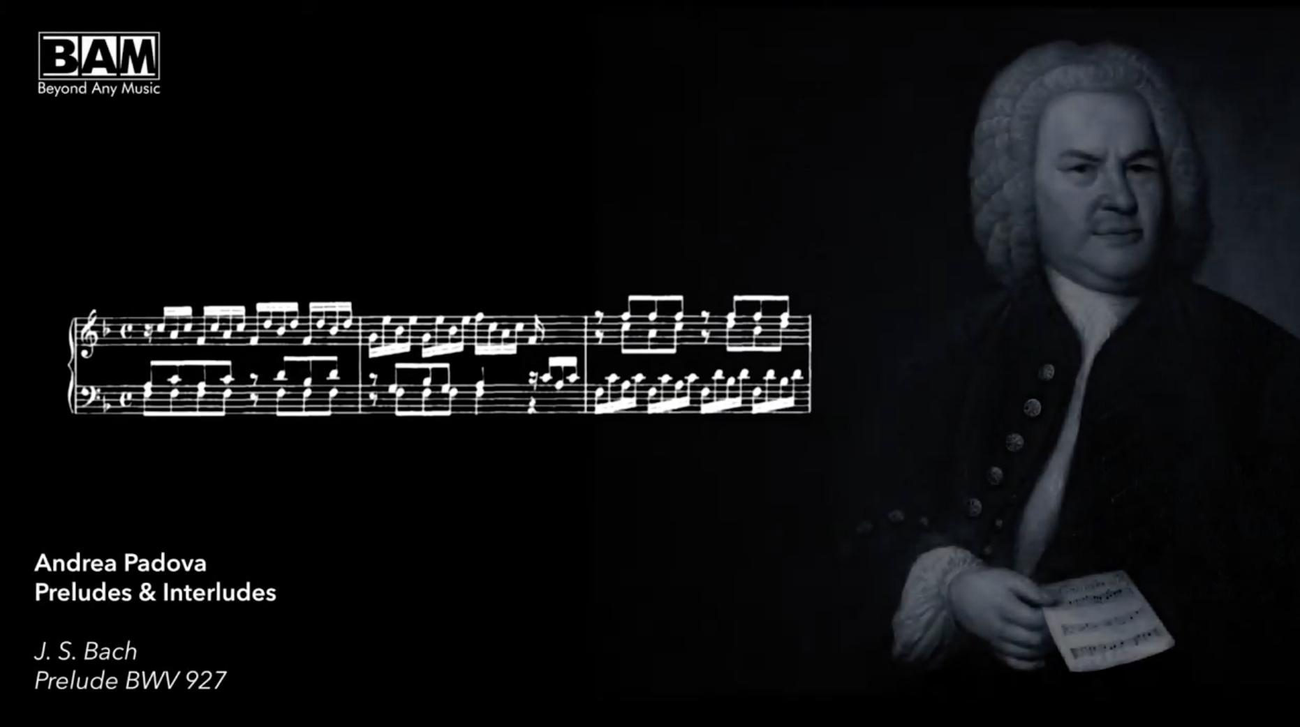 """Nuovo video di Andrea Padova dal CD """"Preludes & Interludes"""""""